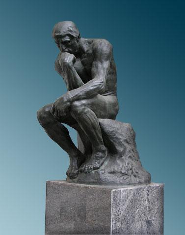 Огюст роден мыслитель